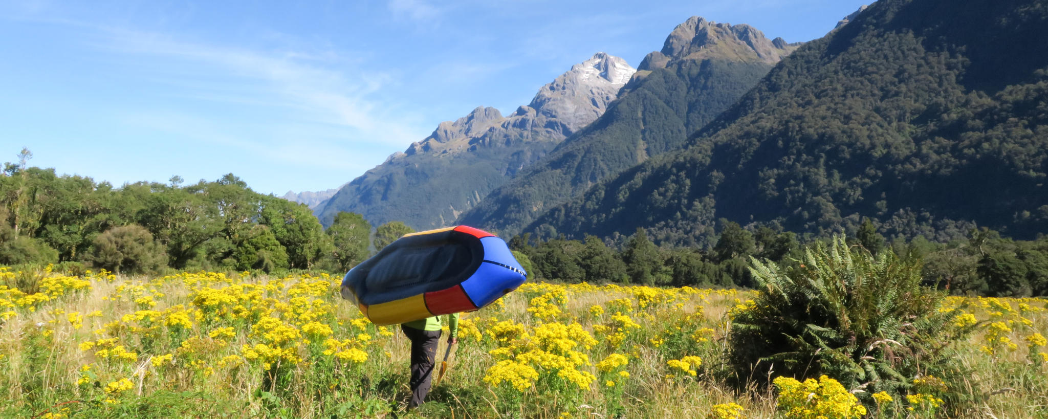 Packrafting the Hollyford Pyke Loop in New Zealand