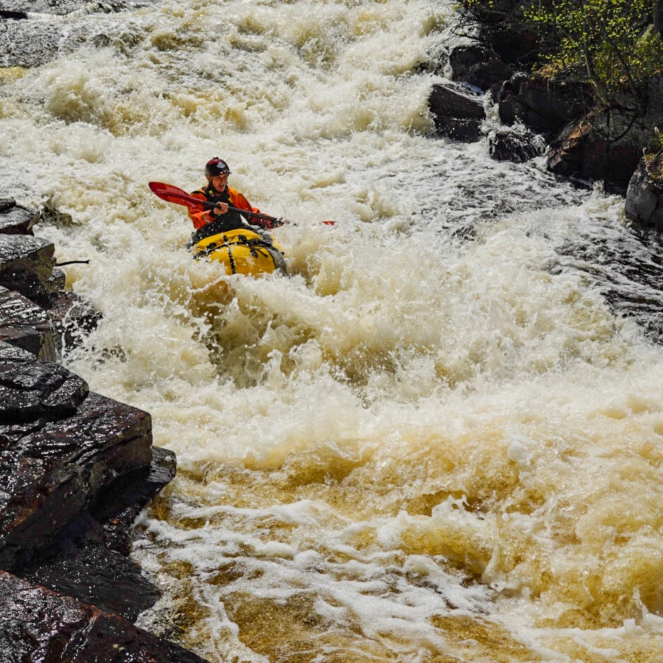 Alpacka packraft in Whitewater