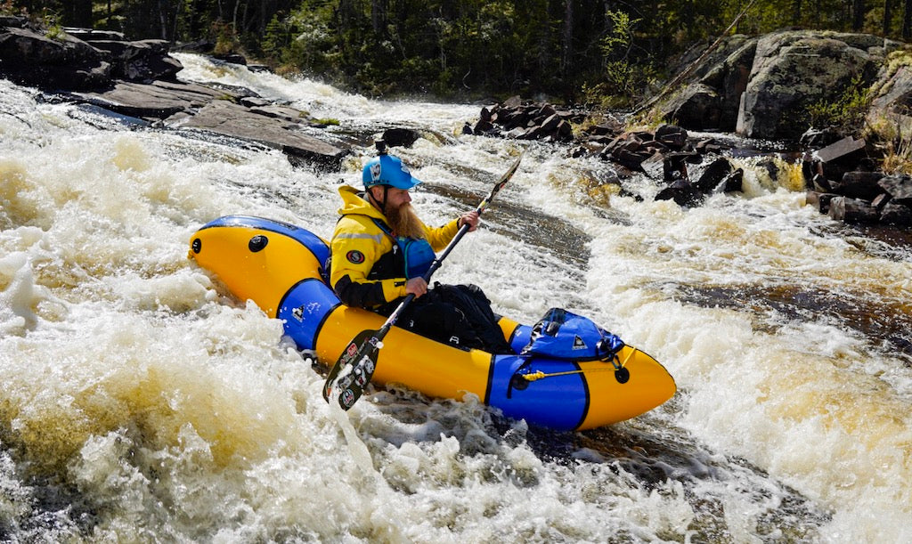 Alpacka Gnarwhal packraft in whitewater