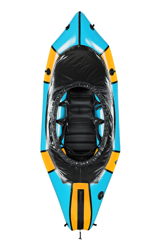 Alpacka Wolverine Whitewater Packraft - Whitewater Deck - Forget Me Not