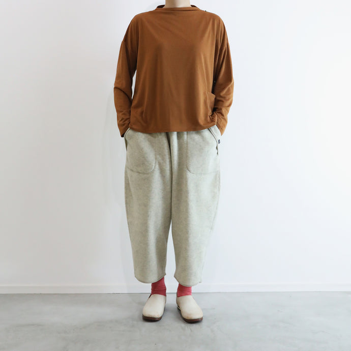 ヒムカシ製図 / thermostat boat neck wide long sleeve 3.0   -  ( polartec  power grid )
