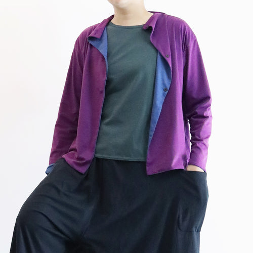 ヒムカシ製図 / reversible stand short cardigan  2.0  -  ( polartec power dry )