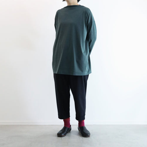 ヒムカシ製図 / boat neck tunic long sleeve 3.0  -  ( polartec power dry )