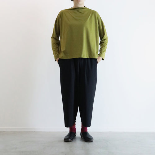 ヒムカシ製図 / boat neck wide long sleeve 3.0  -  ( polartec power dry )