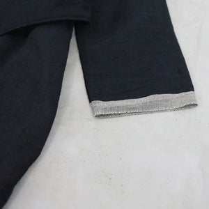 ヒムカシ製図 / 耳鳴! pentagon coat   -  (  old selvedge  linen cotton pincheck  )
