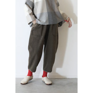 """店頭販売のみ"" ヒムカシ製図 / warm easy pierrot pants 3,0  -  ( polartec classic 200 SP )"