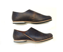 ヒムカシ製靴 / Armenia slipon 3. painting  navy / brown