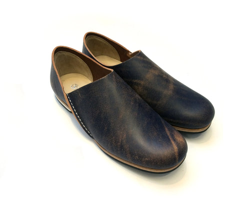 ヒムカシ製靴 / Armenia slipon ③ painting  navy / brown