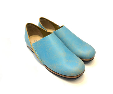 ヒムカシ製靴 / Armenia slipon 4. painting  blue / yellow