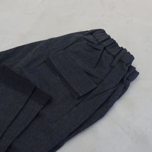 ヒムカシ製図 / 耳鳴!  chapllin pants  -  ( special touch bulky ox / 裏 top black )