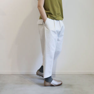 ヒムカシ製図 / 耳鳴!  chapllin pants  -  ( special touch bulky ox / 裏 top white )