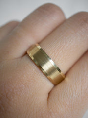 5mm Satin Beveled Edge Wedding Band *Made-to-Order