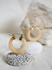 Gia Golden Jade Hoops