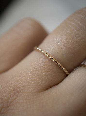 Twisted Stacker - 14K Yellow Gold-Fill