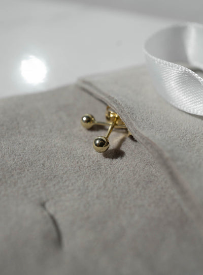10K Gold Brillante Ball Studs