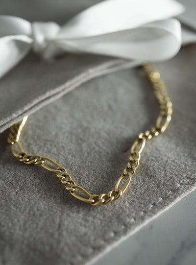 Figaro Chain Bracelet - 14K Gold-Fill
