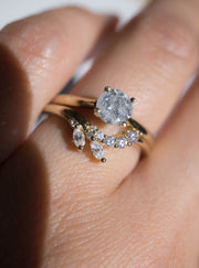 Hidden Stars - 0.71ct Round Salt & Pepper Diamond Engagement Ring *SOLD