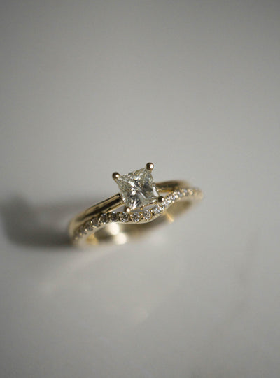 Hidden Stars - 0.63ct Champagne Princess-Cut Engagement Ring *ready-to-ship