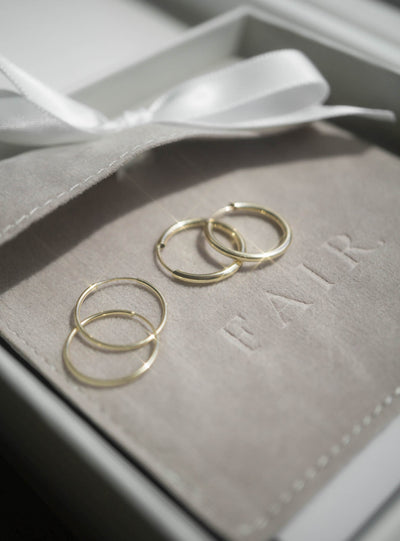 Medium Hoops - Solid 10K Yellow Gold