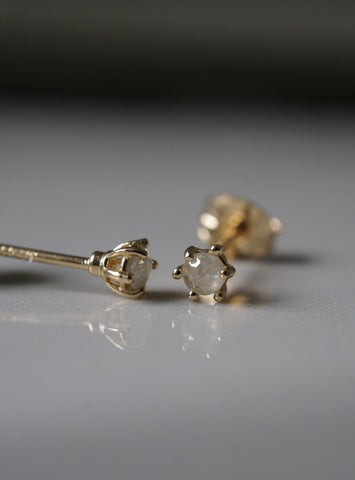 Frosted Diamond Studs *Made-to-Order