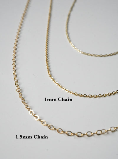 1mm Gold-fill Chain
