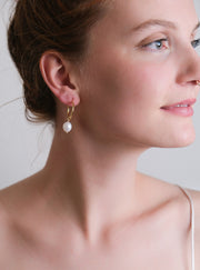 Francis Pearl Hoops - 14K Gold-fill *Made-to-Order