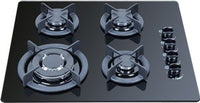 Cavallo 600MM GAS BLACK GLASS COOKTOP