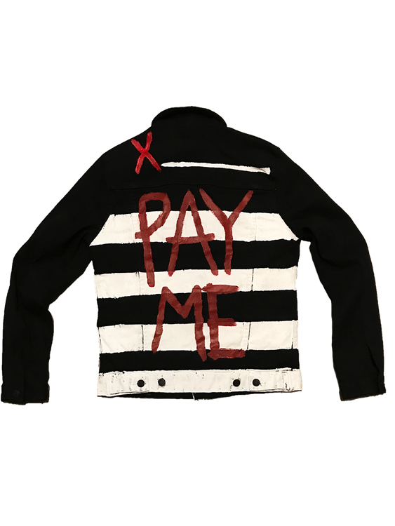 PayMe Striped Denim Jacket