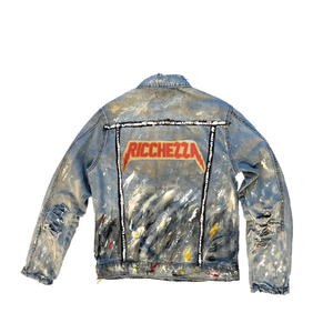 """I Was Once Broke"" Tainted Denim Jacket"