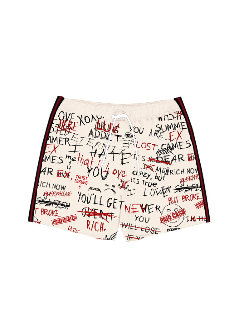 Chezza Luv Letter Swim Trunks