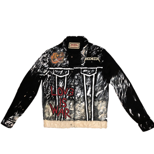 """Love Is War"" Painted Denim Jacket"