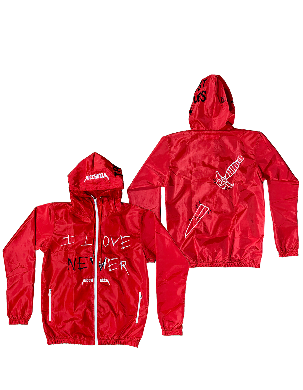 I Love Nevher red spring jacket
