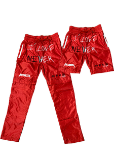 I Love Nevher Red 2in1 Pants/Shorts