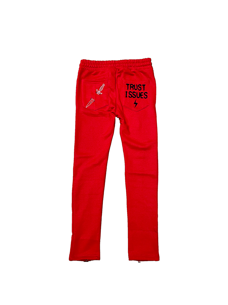 I LOVE NEVHER Sweat Pants adjustable (RED)