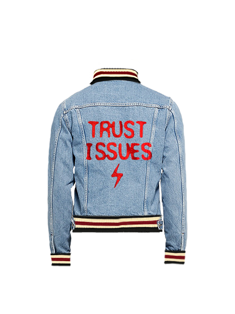 Trust⚡︎Issues 18' Denim Jacket