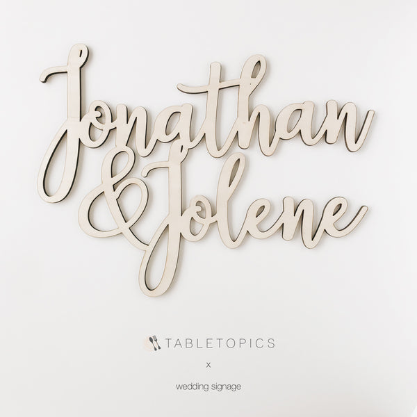 Wedding / Name Signage #TC002