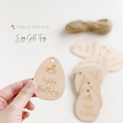 Birthday Egg Gift Tags #TC007