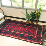 Handwoven rug/ carpet, natural dye. Handmade for Singapore| floor and living space rug