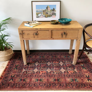 Vintage handwoven rug/ carpet, natural dye. Handmade for Singapore| floor and living space rug