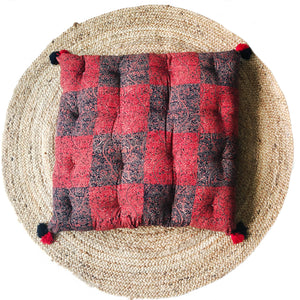 Floor Cushion, CRIMSON