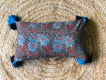 Indigo + Charcoal lumbar cushion cover