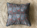 Indigo + Charcoal cushion cover