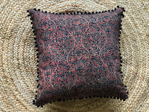 Scarlet + Charcoal cushion cover