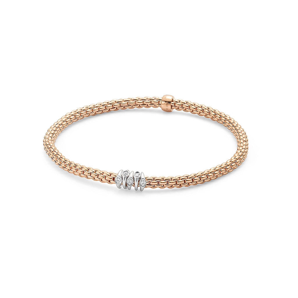 Fope Flex'it Rose Gold with 0.07 Diamond Bracelet