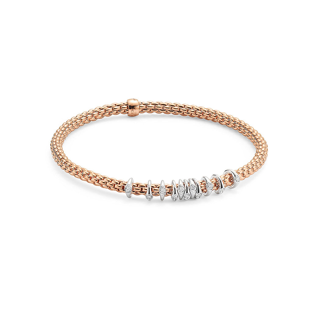 Fope Flex'it Rose Gold with 0.15 Diamond Bracelet