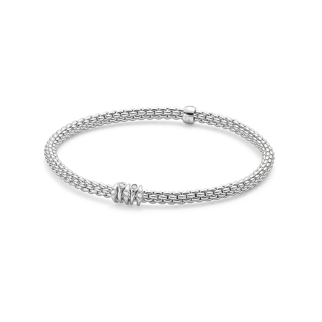 Fope Flex'it White Gold with 0.07 Diamond Bracelet