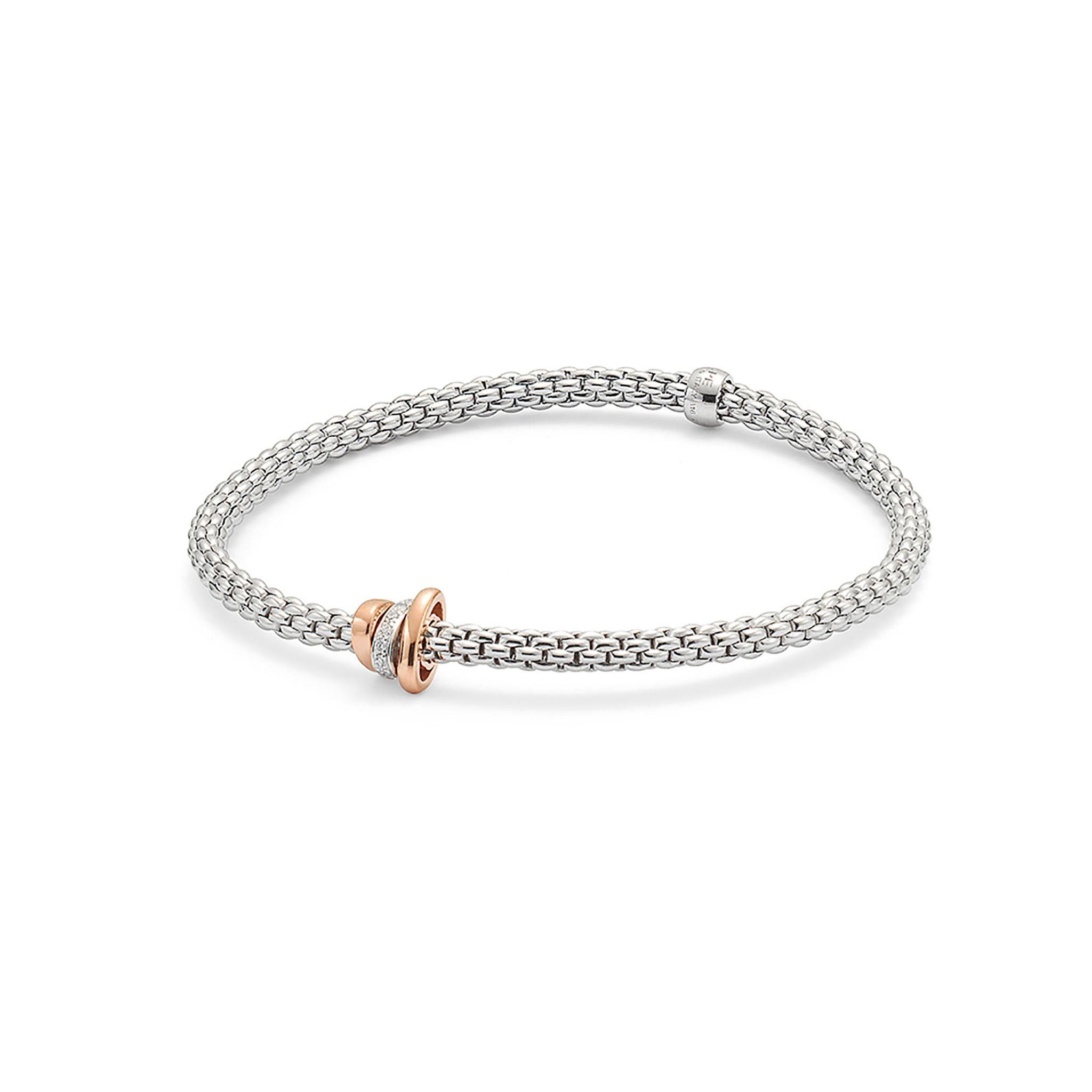 Fope Flex'it White Gold with 0.10 Diamond Bracelet