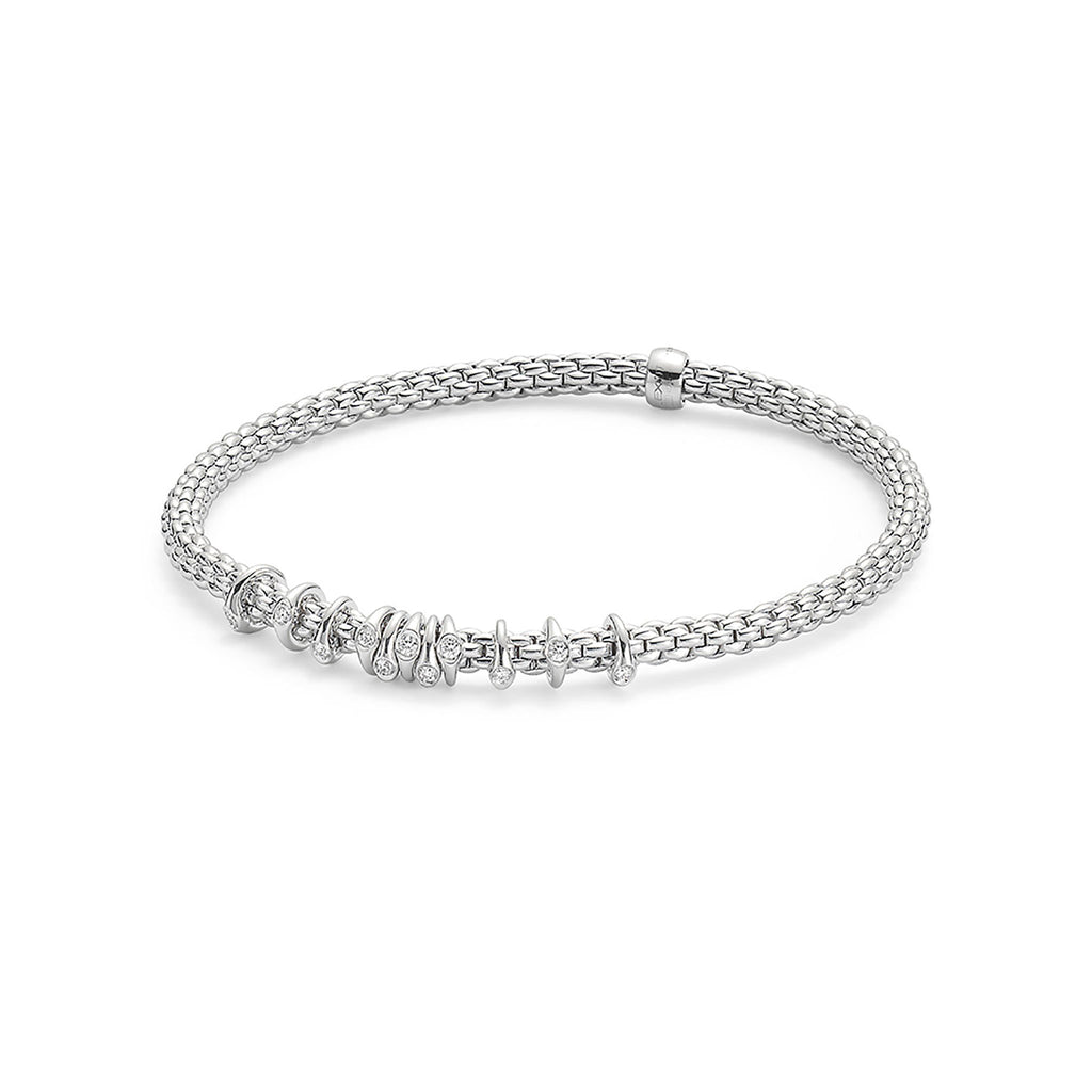Fope Flex'it White Gold with 0.15 Diamond Bracelet