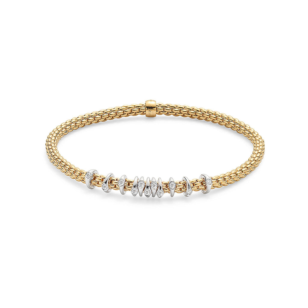 Fope Flex'it Yellow Gold with 0.15 Diamond Bracelet