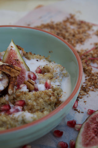 Quinoa with fig and pecans